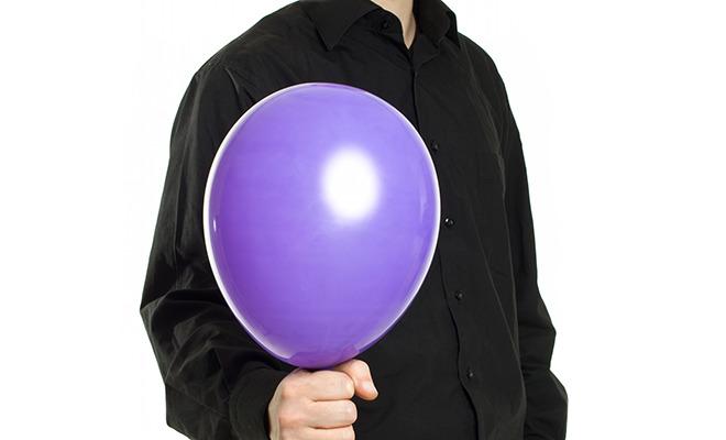 Luftballon als Symbol für Blähungen