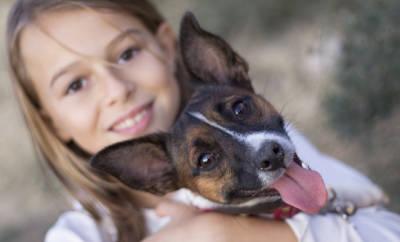 Asthma bei Kindern: Dieser Hund kann das Mädchen vor einer Erkrankung an Asthma schützen.