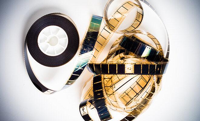 Filmstreifen auf Spule