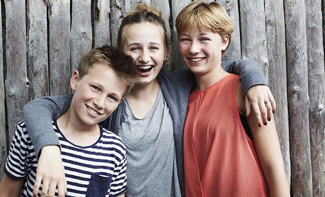 Porträt dreier Geschwister