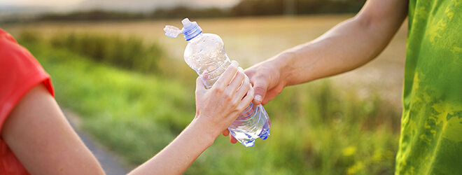 Laufen für Anfänger: Wasser trinken