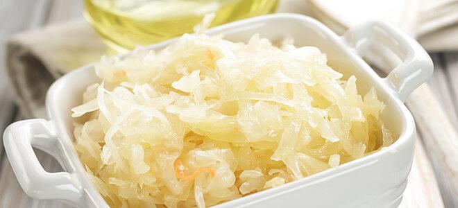 Auch Sauerkraut ist ein darmgesundes Lebensmittel.