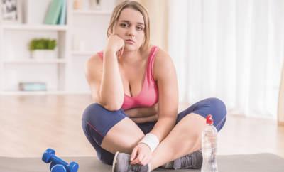 Von Sport frustrierte Frau
