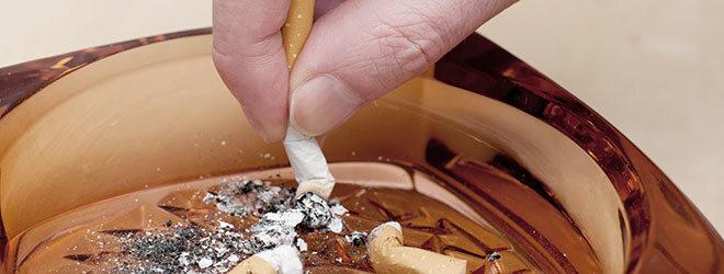 Hautalterung durch Rauchen.