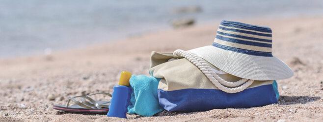 Strandtasche mit Zubehör