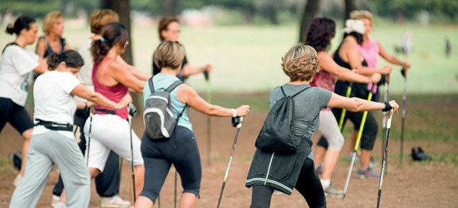 """Sport in den Wechseljahren macht mit Alters- und """"Leidens""""-Genossinnen oft noch mehr Spaß."""