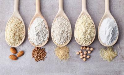 verschiedene glutenfreie Mehle