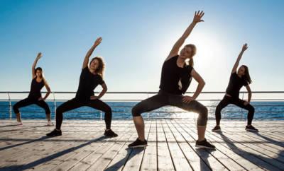 Aerobic fördert die Ausdauer und Koordination.