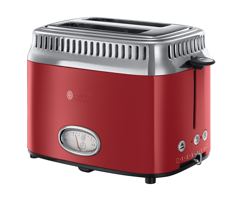 Retro Ribbon Red Toaster von Russell Hobbs