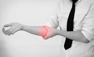 Eine Schleimbeutelentzündung (Bursitis) entsteht häufig am Ellbogen.