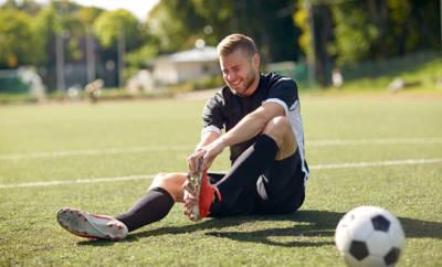 Muskelfaserriss beim Fußball