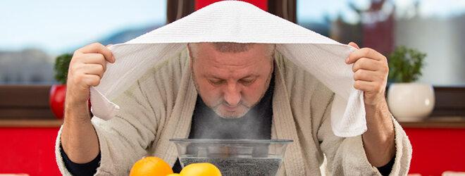 Inhalieren hilft bei verschiedenen Arten von Husten.
