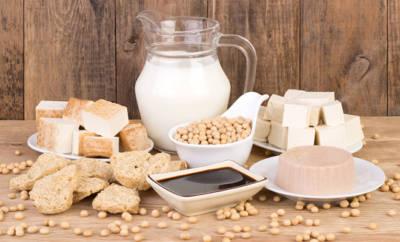 Sojaprodukte, die Pflanzenhormone enthalten