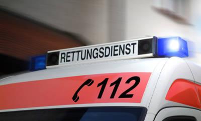 Schild Rettungsdienst/112
