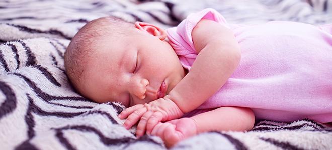 Schlafendes Baby.