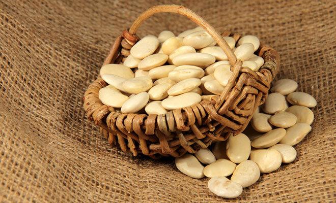 Weiße Bohnen, auch bekannt als Ackerbohnen bzw. Dicke Bohnen