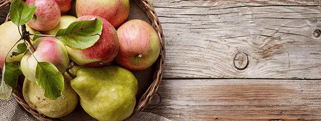 Gesunde Verwandte: Birnen und Äpfel.