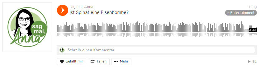 Podcast sag mal Anna Ist Spinat eine Eisenbombe