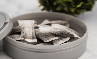 Eine Dose mit Snus, dem schwedischen Tabak für den Mund.