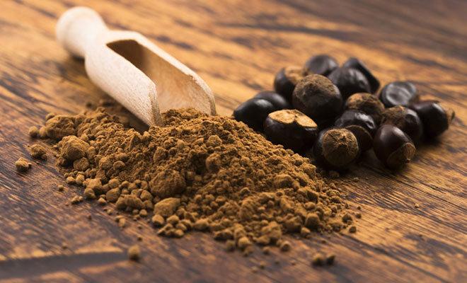 Guarana Samen und Pulver