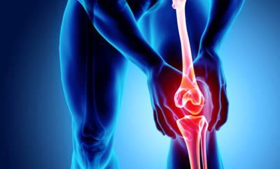 Eine Körpergrafik, die eine Knochenentzündung darstellt.