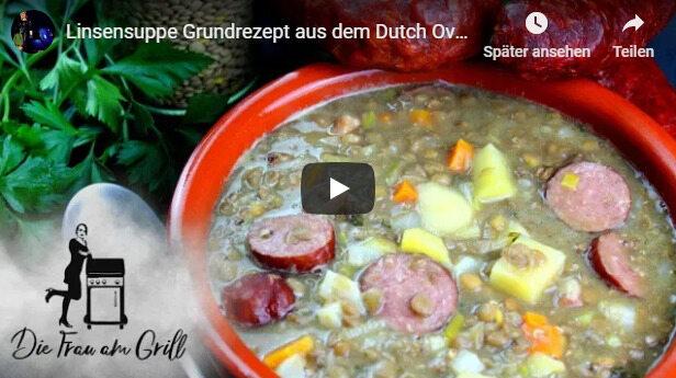 Eine Videoanleitung von Anja Auer, wie man eine leckere Linsensuppe zubereitet.