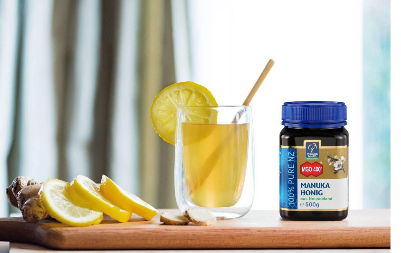 Manuka und heiße Zitrone