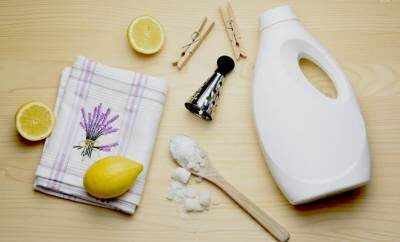 Zutaten zum Waschmittel selber herstellen (Zitronen, Soda etc.)