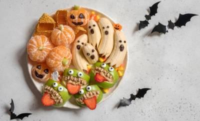 Gesundes und lustiges Essen für Halloween: Apfelmonster, Bananengeister und Co.