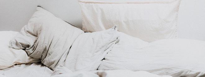 Ein ungemachtes Bett