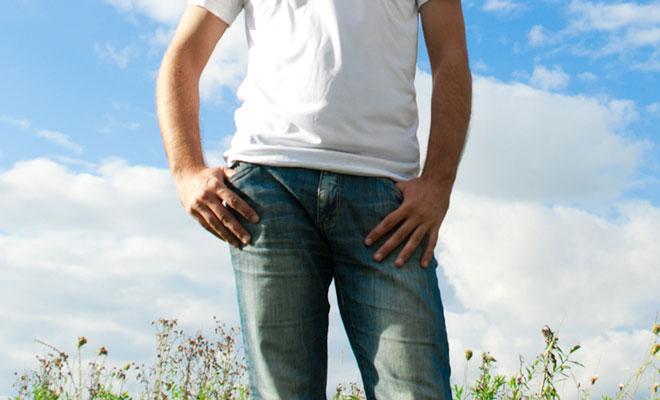 Ein Mann mit Erektionsstörungen