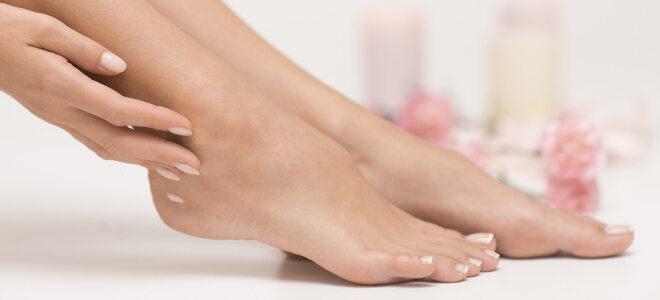Schöne gepflegte Füße