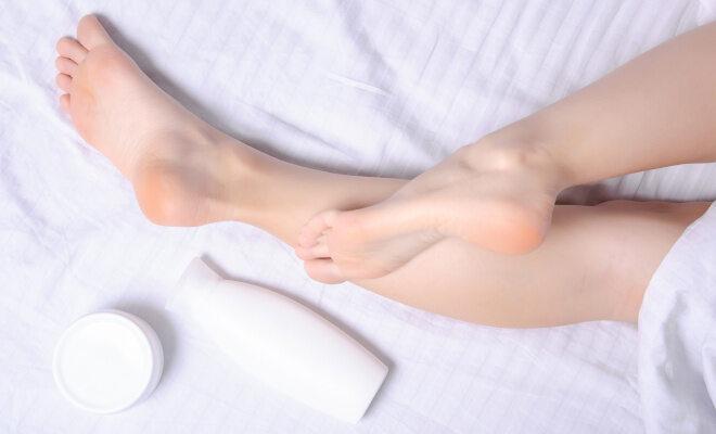 Gepflegte Füße und Creme